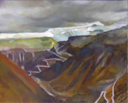 Furka passe mountainsides III