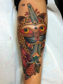 Tiger and dagger